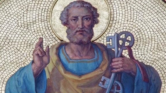 Fresko zeigt heiligen Petrus