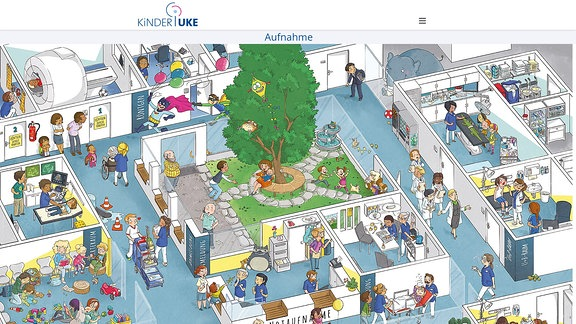 Screenshot: Kinder-UKE.de