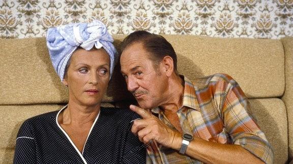 Herbert Köfer (Hans Neumann) und Irma Münch (Marianne Neumann)