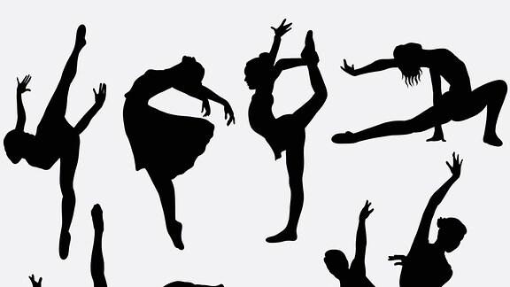 Silhouetten von Tänzern