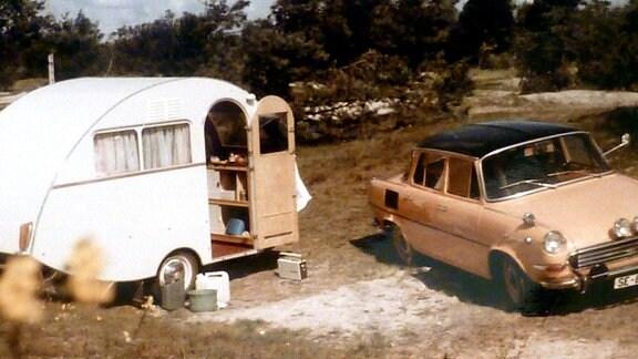 Das Dübener Ei der Familie Würdig in den 60er und 70er Jahren auf Reisen