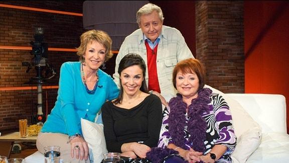 Katrin Weber mit ihren Gästen Uta Schorn, Heidi Weigelt und Lutz Jahoda