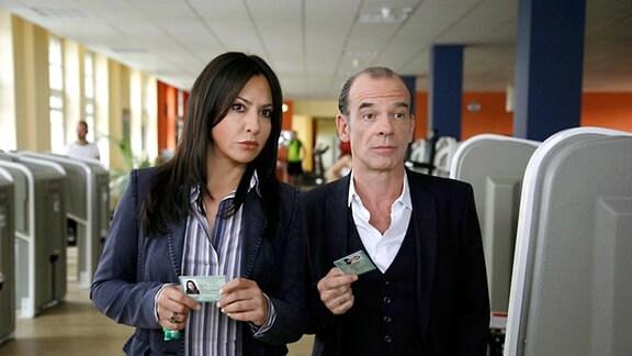 Hauptkommissarin Eva Saalfeld (Simone Thomalla), Hauptkommissar Andreas Keppler (Martin Wuttke)