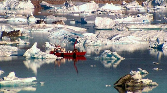 Eislandschaft in Grönland