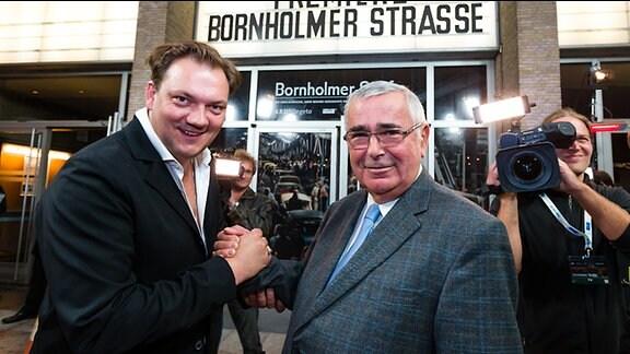 """Charly Hübner, Harald Jäger bei der Premiere """"Bornholmer Straße"""" am 23.10.2014 im Kino International in Berlin"""