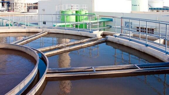Wasserbehandlungstank in einer Kläranlage