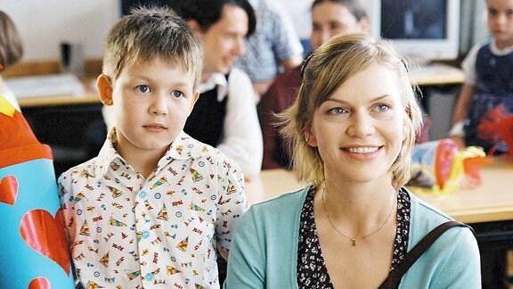Leni Bluhm ist stolz auf ihren Sohn Dominik, der eingeschult wird