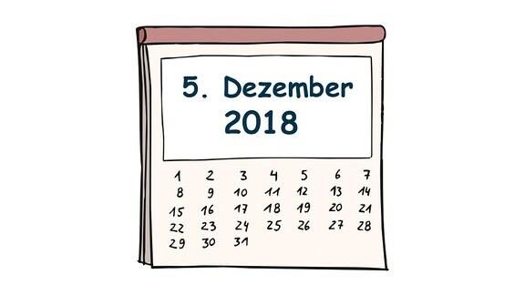 Kalenderblatt, 5. Dezember