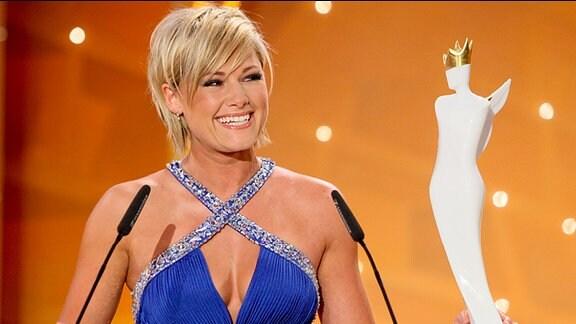 """Sängerin und Preisträgerin Helene Fischer bei der """"Krone der Volksmusik"""""""