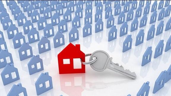 ein Haus mit Schlüssel