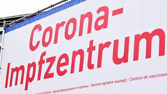 Wegweiser zum Corona Impfzentrum