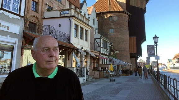 Jörg Rainer Kittner vor dem Danziger Krantor