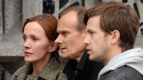 Edgar Selge als Ulrich, Katja Flint als Heike und Franz Dinda als Klaus