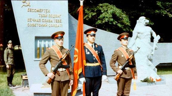 Sowjetische Soldaten in Nohra.
