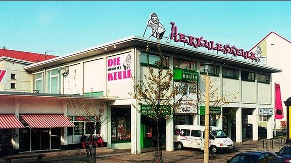 Das Haus der Herkuleskeule in Dresden.