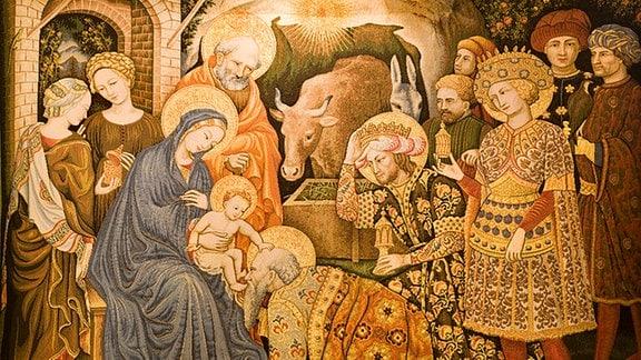 Die Anbetung der Heilgen drei Könige. Venedig - Drei Könige Gobelin