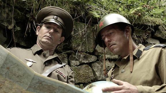 Major mit Soldat
