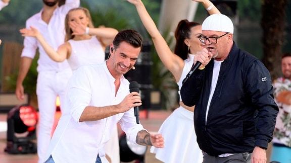 Florian Silbereisen mit DJ Ötzi.