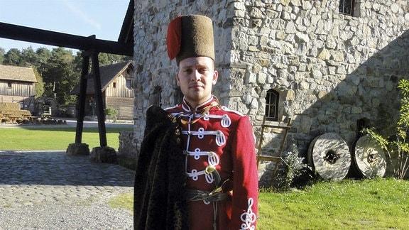 Der Schwarzkollmer Ole Dobisch spielt den historischen Krabat