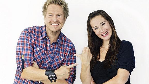 Sarah von Neuburg und Lars-Christian Karde