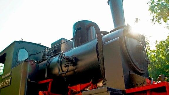 """""""Emma"""", der neue Star in Magdeburgerforth. Bahnenthusiasten wissen, die alte Dame ist mehrfach umbenannt worden. Bei der Deutschen Reichsbahn erhielt sie 1956 ihre jetzige Nummer 994721."""