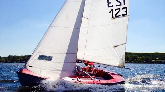 Segelboot auf dem Süßen See
