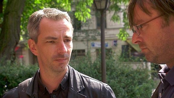 Frank Ebert (links) und Riccardo Barkawitz (rechts) in Berlin