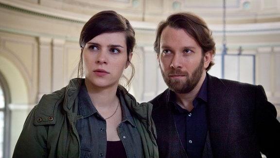 Kira Dorn (Nora Tschirner) und ihr neuer Kollege Lessing (Christian Ulmen).