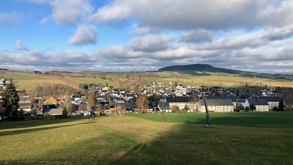 Panoramabild von Crottendorf im Erzgebirge