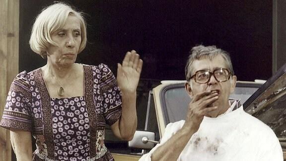Agnes Kraus als Agnes Obermann und Vlastimil Brodsky als Dr. Flanke.