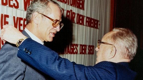 HVA-Chef Markus Wolf und sein Vorgesetzter Erich Mielke.