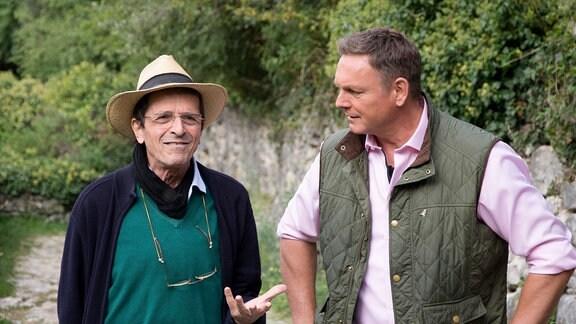 Prof. Franco Farina, Altphilologe aus Riva del Garda und Axel Bulthaupt (re.).