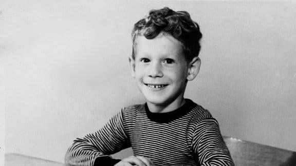 Peter übt für die Schule und fürs Leben, 1957.
