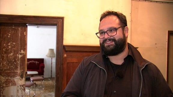 Jonas Urbach, Bürgermeister – möchte das Kloster Anrode erhalten