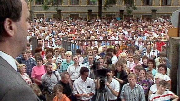 Demo Pentaconmitarbeiter 1990.
