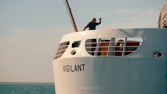 """Rückkehr zur """"Vigilant"""" noch immer segelt und befindet sie sich in Fort Lauderdale in Florida."""