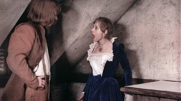 v.l.n.r.: Viktor Semjonow (Hans), Katharina Thalbach (Prinzessin)