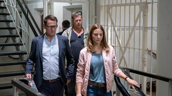 Lars Englen, Finn Kiesewetter und Nina Weiss nehmen die Ermittlungen auf.