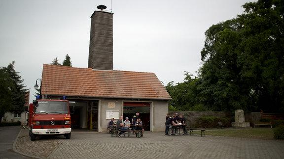Die Feuerwehr in Schinne.