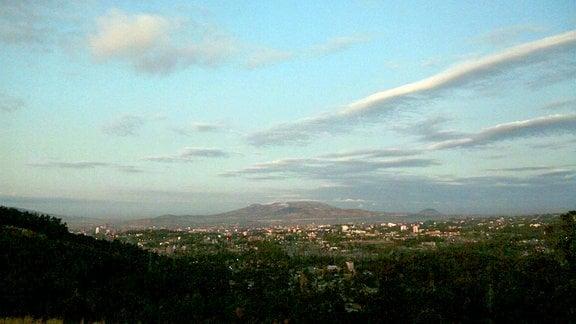 Addis Abeba in den frühen Morgenstunden.