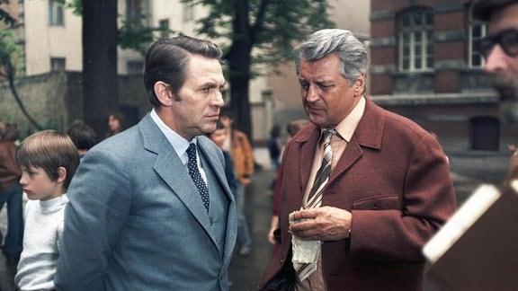 Ulrich Thein (Joachim Faber) und Horst Drinda (Hans Tromlitz).