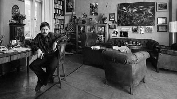 Wolf Biermann in seiner Wohnung