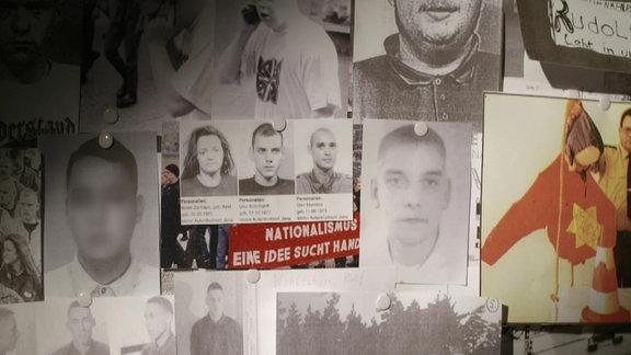 Eine Ermittlungswand im NSU-Fall.