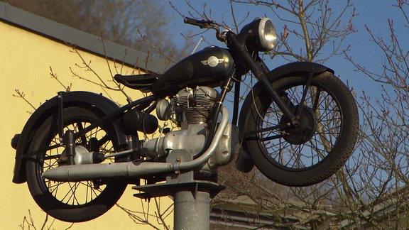 Ein altes Moped.