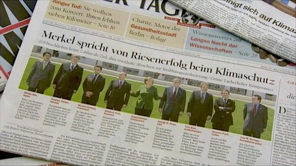 Bundeskanzlerin Merkel in der Tagespresse