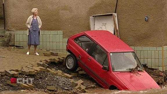 Überschwemmung in Glashütte (Sachsen)