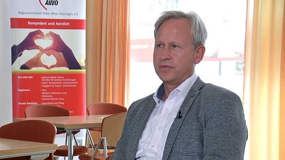 Frank Albrecht, Geschäftsführer des AWO Regionalverbandes Mitte-West Thüringen