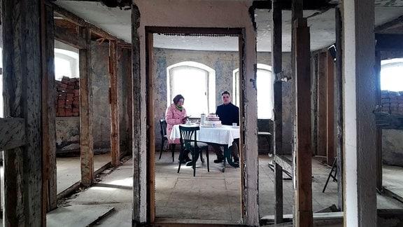 Renovierungsarbeiten im Integrationshotel