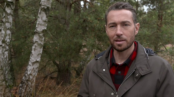 Moderator im Wald