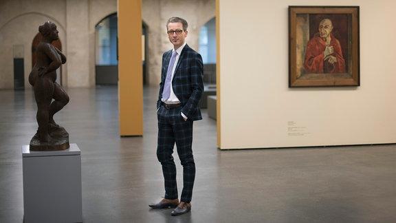 Thomas Bauer-Friedrich, Leiter des Kunstmuseums Moritzburg in Halle, geb. 1976